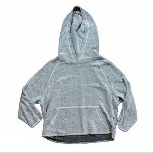 Publish gray terry cloth hoodie crop sweatshirt